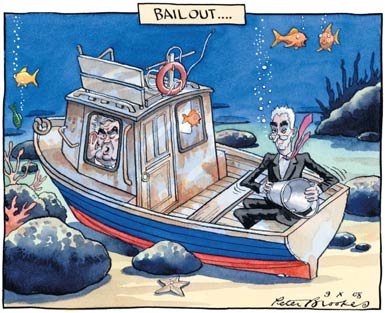 Peter Brookes on the bailout