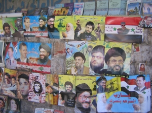 Posters for sale on Damascus sidewalk impede Obama's communication with Arab street. (Photo by Amelia Opalinska.)