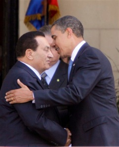 Obama and Mubarak
