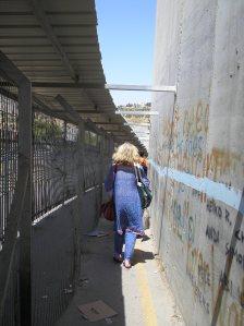 Palfest writer Deborah Moggach negotiates a checkpoint
