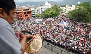 Anti-coup protest in city of San Pedro Sula.