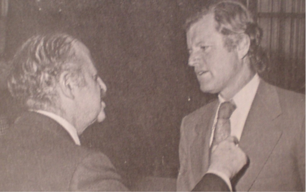 AIPAC Founder Isaiah L. Kenen and Ted Kennedy