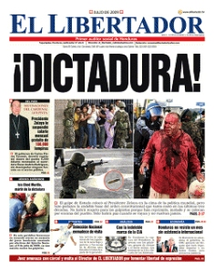 July 2009 edition of El Libertador.