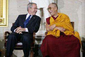 """Dalai Lama: """"I love President George W. Bush"""""""