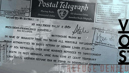 """""""Telegram appealing unsuccessfully to FDR to help Jewish Refugees aboard St. Louis"""" at http://cruiselinehistory.com/?p=4742"""