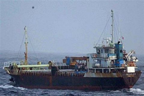 """MV Sun Sea"" Uncredited Photo at: http://www.edynews.com/top-news/18-almost-500-sri-lankan-migrants-are-in-canadian-custody.html"