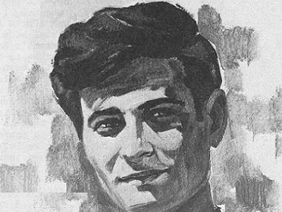 Mahmoud Darwish, portrait by Palestinian artist, Ismail Shammout (1971).