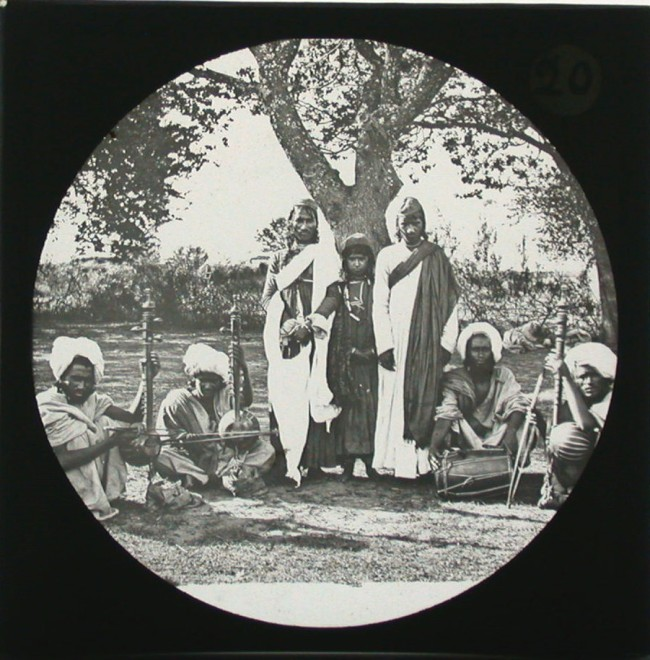 Kashmiri Musicians, c. 1890.  Source: Columbia University Archives