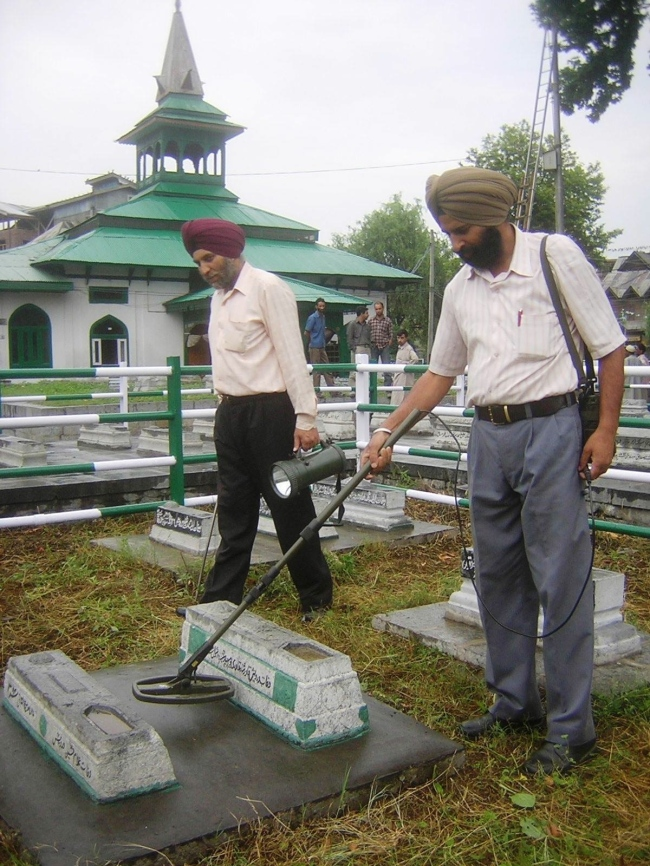 Frisking Ghosts: India Prepares for Martyrs' Day in Kashmir, July 13, 2013.  Photographer Unknown.