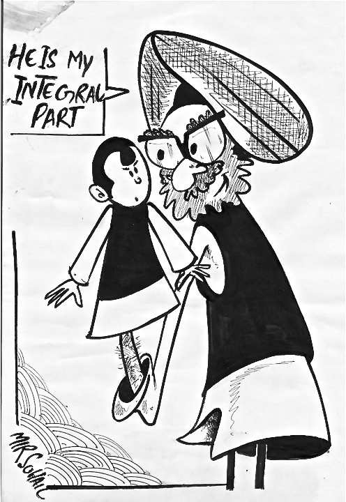 Kashmir as an Integral Part of India.  Cartoon by Mir Suhail Qadiri