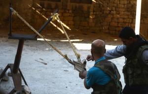 An improvised weapon in Aleppo