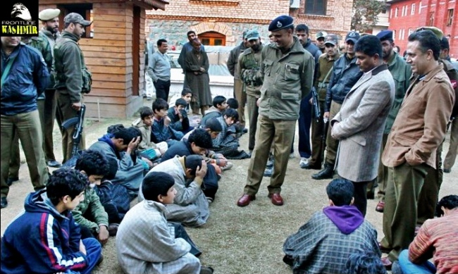 Indian Occupation Forces and their 'Fearsome' Targets: Young Kashmiri Boys