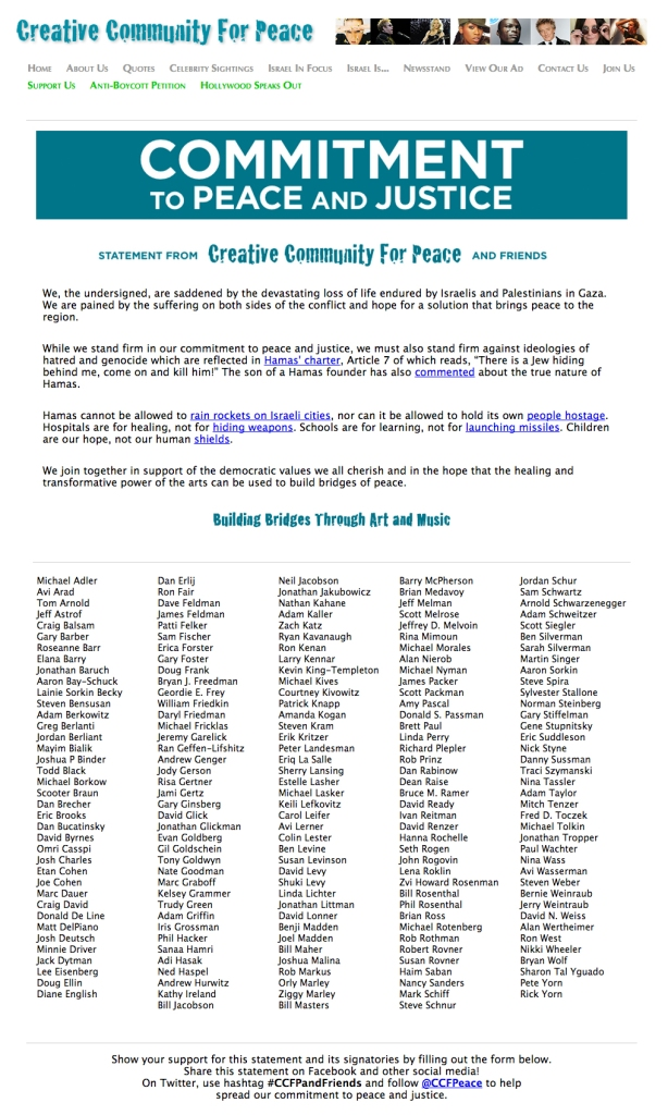 Crceative Community For Peace Genocide