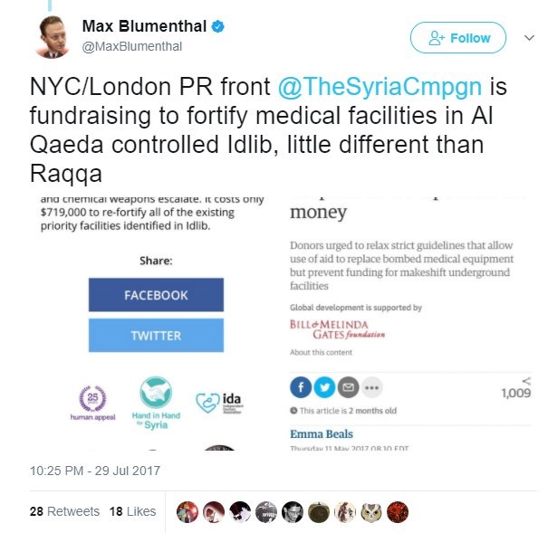 Attacking hospital fundraiser