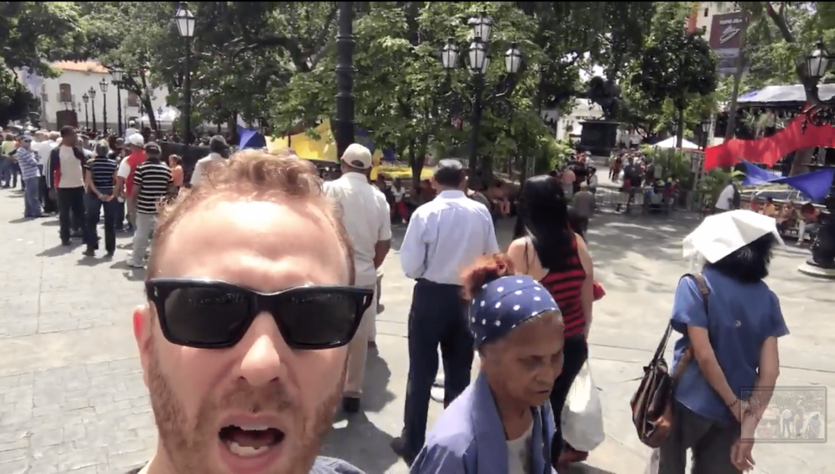 "Max Blumenthal of ""Grayzone Project"" broadcasts a pro-Maduro message from Caracas"
